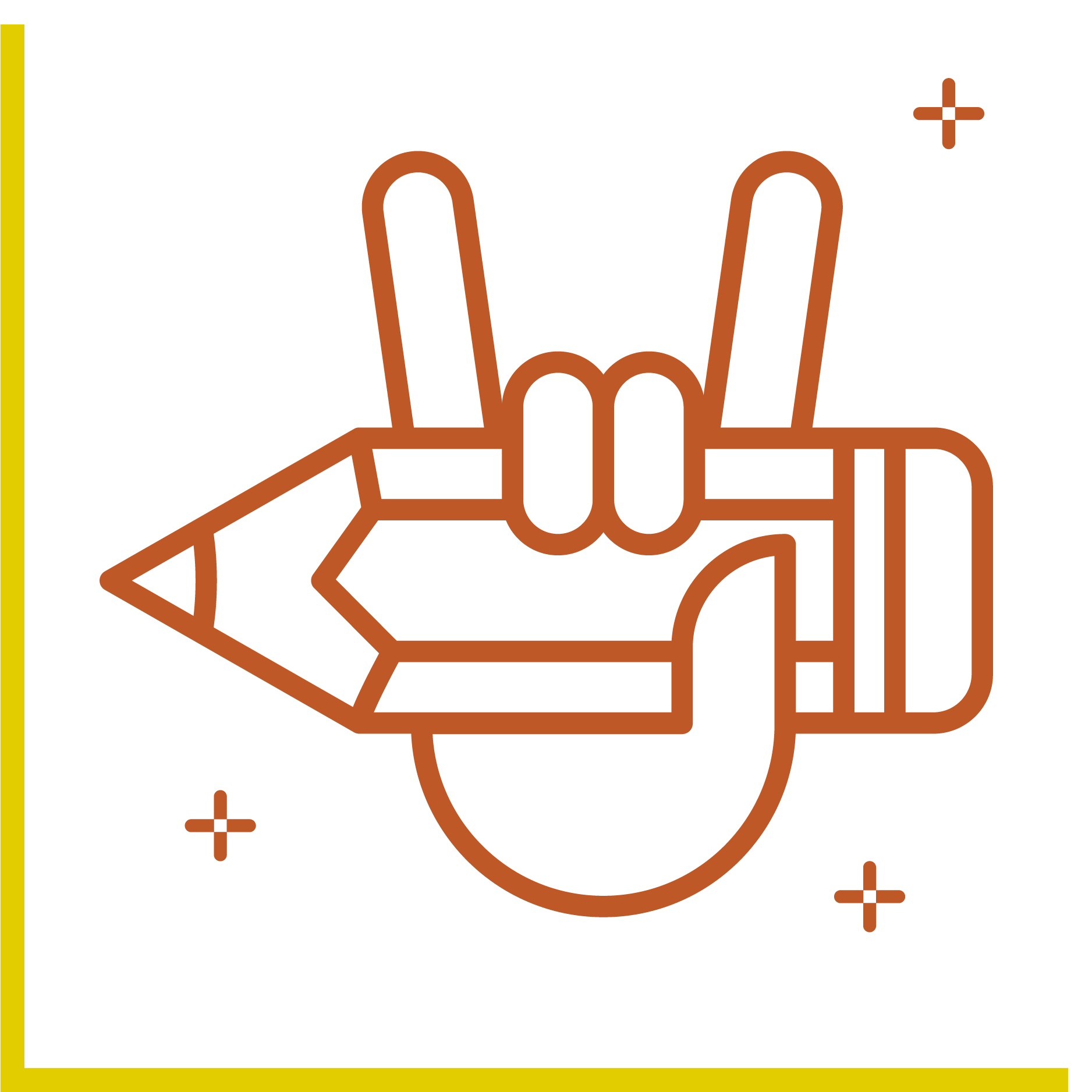 Icon - Hook 'em holding a pencil