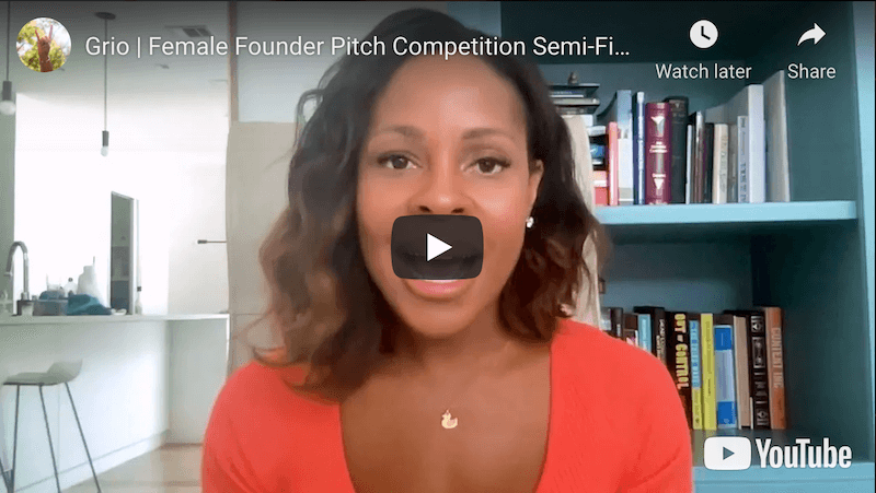 Grio Inc. Female Founder Pitch Competition