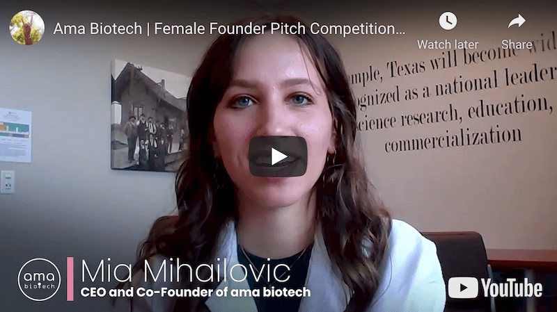 ama biotech Inc. Female Founder Pitch Competition